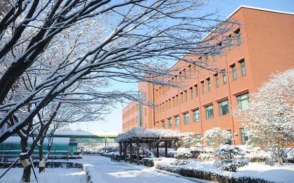 Toàn cảnh Jeonju National University of Education vào mùa đông