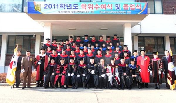 Lễ tốt nghiệp của sinh viên trường Đại học Thần Học Daehan Hàn Quốc