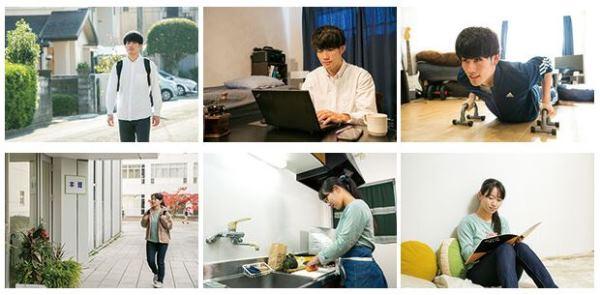 Sinh viên đại học Minami Kyushu sinh hoạt tại ký túc xá tại địa phương