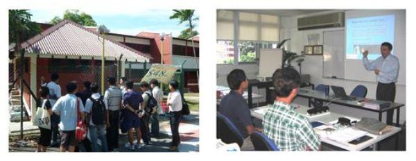 Sinh viên học viện Xây dựng và Bất động sản tham gia thực tập