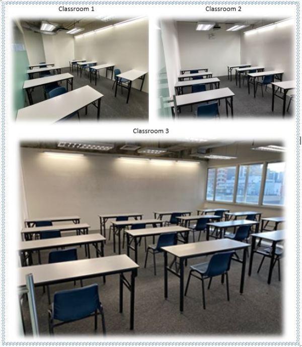 Các phòng học tại trường