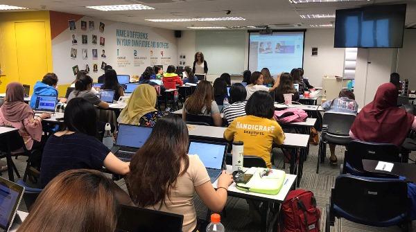 Một tiết học tại học viện Quốc tế CSM