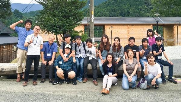 Sinh viên đại học Okayama Shoka tham gia hoạt động ngoại khóa