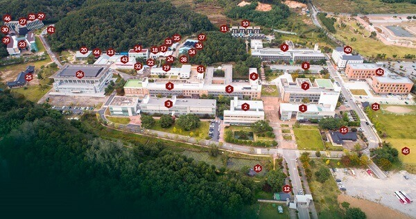 Sơ đồ khuôn viên Korean National University Of Cultural Heritage
